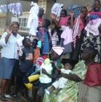 Pastor Margaret Kiyimba pose for group photo with kids